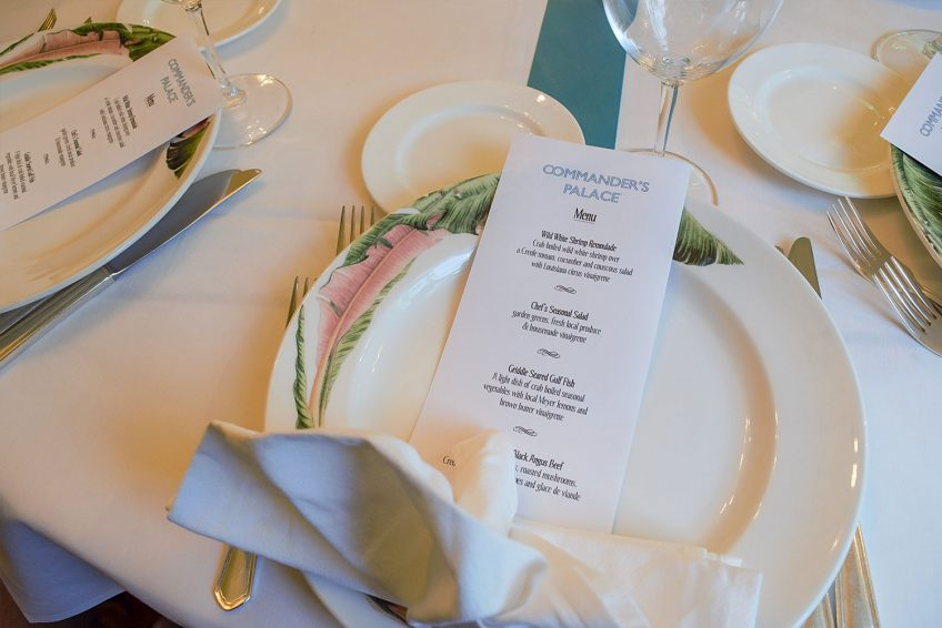 Coliseum Room Place Setting
